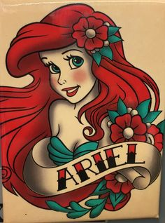 68 super Ideas for tattoo disney arielle little mermaids Disney Tattoo Ariel Disney, Punk Disney Princesses, Mermaid Disney, Ariel The Little Mermaid, Disney Art, Little Mermaid Drawings, Little Mermaid Tattoos, Disney Ideas, Disney Villains