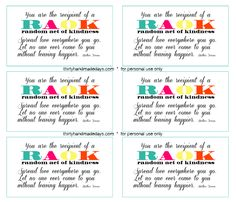 Random Acts of Kindness Printable