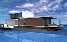 C3 A320/A360 HOUSEBOAT | Giuseppe Torrisi, Daniela Procopio Houseboat Living, Floating House, Canal Boat, Tiny House Movement, Yacht Design, Water Crafts, Residential Architecture, Rustic Design, My House