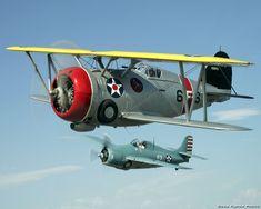 Grumman F3F and F4F