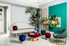 After undertaking a redesign of their identity and branding, the designers from the multi-disciplinary creative consultancy Masquespacio have recently completed the design of their new studio space in Valencia, Spain.Showcasing their particular colourful, contemporary and trend-focused decorative style, the design of their own new studio interior is a bold playground of rich colour-blocked planes, decorative marble details and gold trims that continues the concept behind the studio's new…