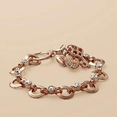 Rose Gold Bracelets Charm Fossil Bracelet