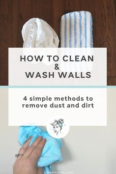 How to Clean and Wash Walls (Clean Mama) Cleaning Walls, House Cleaning Tips, Bathroom Cleaning, Diy Cleaning Products, Spring Cleaning, Cleaning Caddy, Cleaning Routines, Apartment Cleaning, Cleaning Checklist