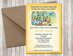 Classic Pooh Baby Shower Invitation  Printable by UniquelyJDesigns