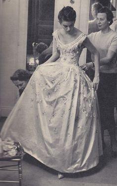 Dior Wedding Gown. <3 1958