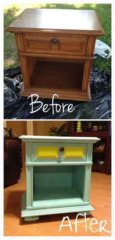 Just a Mormon girl in a crafty world!! My first post from my new blog! How to spray paint a bedside table. #repurpose #DIY #recycle #upcycle #spraypaint