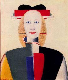 Chica con un peine en el pelo, obra de Kazimir Malevich