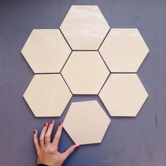 What's your favorite shape for tile?  Large Format Honeycomb - 106 Fuji Brown