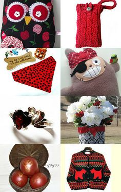 Seeing Red!! by Maria Plover on Etsy--Pinned with TreasuryPin.com