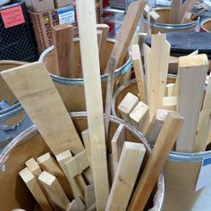 Wood, assorted shapes and sizes, prices vary.
