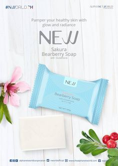 New Sakura Bearberry Soap with Glutathione is the newest addition to NWORLD's line of beauty soaps. It helps promote brighter, smoother and healthier skin. Nlighten Products, Beauty Soap, Younger Skin, Even Skin Tone, Radiant Skin, Best Anti Aging, Tea Tree Oil, Acne Scars, Acne Treatment
