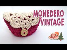 Monedero a crochet paso a paso - YouTube