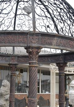 12 Foot English Victorian Cast Iron Gazebo Architectural | eBay