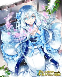 Anime snow girl | yup snow power suits her