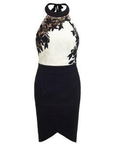 Lipsy V I P Lace Applique Lace Dress
