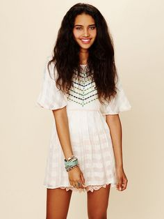 <3 Free People FP New Romantics Embroidered Tunic, $148.00