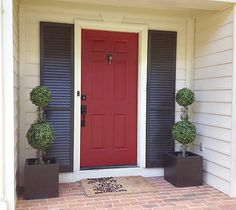 Love the look of shutters if there are no sidelights Front Door | 7th House on the Left