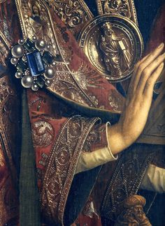 "Detail - Angels ""Ghent Altarpiece"" finished 1432, Jan van Eyck."
