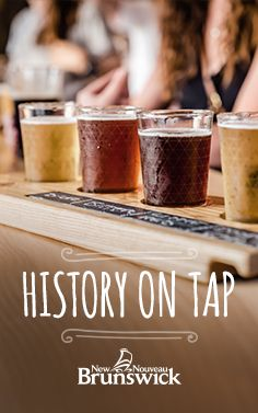 Read up on a little New Brunswick history as told through our cleverly named (and delicious) craft brews. New Brunswick, Fresh Seafood, Farmers Market, Craft Beer, Brewery, Tourism, Tasty, Treats, Turismo