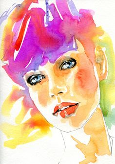 Diary number 1456 Original A6 watercolour presented as a greetings card