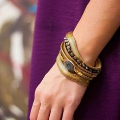 Bracelets: just keep wrapping! Contact our studio to find a #catherinepagejewelry retailer near you!