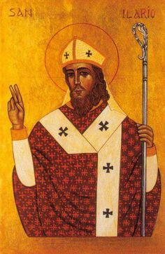 Hilary of Poitiers-Bishop of Poitiers, Father of the Church and Doctor of the Church Catholic Art, Catholic Saints, Roman Catholic, Religious Art, Patron Saints, Nicene Creed, Maria Goretti, Lives Of The Saints, Pope Leo