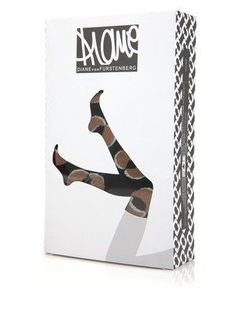 Diane Furstenburg over-the-knee socks. Ex of hosiery packaging. #competition Textile Products, Packaging Design Inspiration, Logo Inspiration, Matches Fashion, Knee Socks, Packaging Ideas, Package Design, All About Fashion, Hosiery