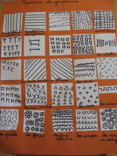 Etablir avec les enfants un répertoire des graphismes abordés en classe. Il sera un référent pour un travail plus libre de réinvestissements.