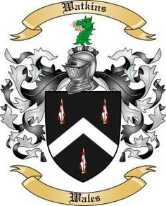 Watkins Family Coat of Arms from Wales