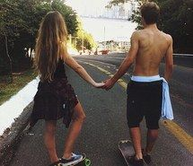 Inspiring image boy, couple, cute, forever, girl, love, lovely, outside, skate, skateboard, together #2489329 by patrisha - Resolution 500x495px - Find the image to your taste