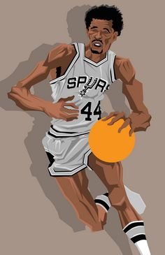 george gervin png - Google Search