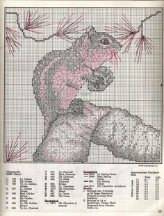 cross-stitch chipmunk                                                                                                                                                                                 More