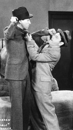 The comedy team of James Stewart and Shemp Howard