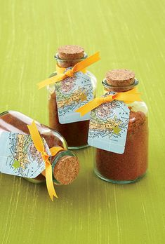 Unique Edible Wedding Favor. From Texas? How about a barbecue rub? Make it personal!!