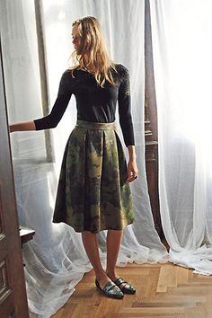 Pretty Neoprene Skirt from anthropologie