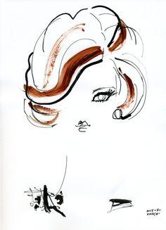 """Miranda Kerr for Harper's Bazaar US, April 2012"" リッチなクラシカルマダム風のミランダが可愛い☆"