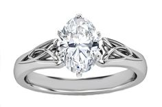 Oval Diamond Triquetra Celtic Engagement Ring