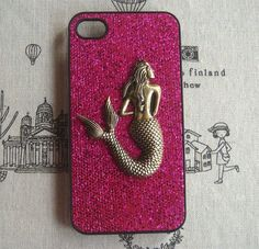 Fancy - Steampunk Mermaid Purple Bling Glitter Hard Case For Apple IPhone 4 Case IPhone 4s Case Cover on Luulla