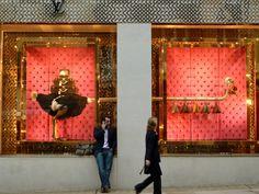 Louis Vuitton Ostrich window. Bond Street store. Made by Chameleon Visual Ltd. Photo by Smudgetikka.