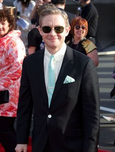 <3    Martin Freeman arrives at the 'The Hobbit: An Unexpected Journey' World Premiere at Embassy Theatre on November 28, 2012 in Wellington, New Zealand.  (Credit : deareje)