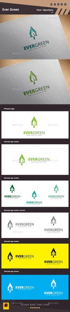 Evergreen - Logo Design Template Vector #logotype Download it here: http://graphicriver.net/item/evergreen-logo-template/10621723?s_rank=1182?ref=nexion