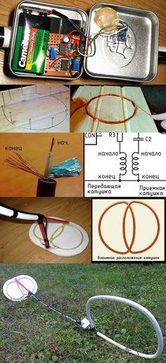 Simple Sensitive Metal Detector Circuit dedektor devreleri metal dedektoru metal detector metal locator 555 devreleri