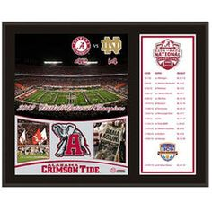 Alabama Crimson Tide 2012 BCS National Champions Back-to-Back Champions 12'' x 15'' Sublimated Plaque