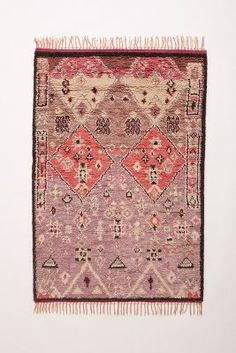 Pink and Purple...how could I not love this // Double Diamond Rug - anthropologie.com