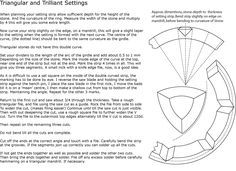 7 Trilliant and Triangular Settings - On your metal