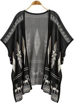Black Deer And Geo Open Front Cardigan Cardigans For Women, Free People Clothing, Open Front Cardigan, Maternity Fashion, Maternity Style, Piece Of Clothing, Latest Fashion For Women, Half Sleeves, Bohemian Fashion