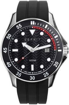 Esprit Men's Black Dial Rubber Band Watch - ES108831002 | Souq - Egypt Latest Watches, Watches For Men, Rubber Bands, Casio, Egypt, Latest Fashion, Toms, Michael Kors, Accessories