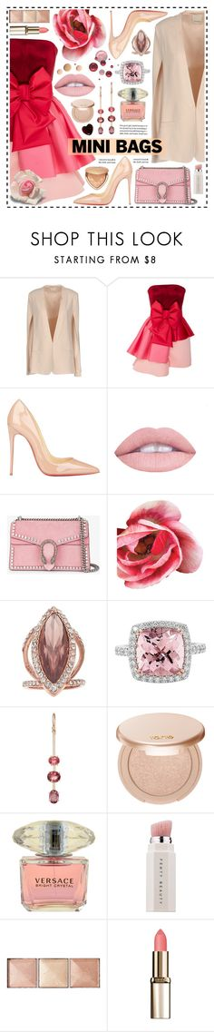 """""""So Cute: Mini Bags!"""" by hennie-henne ❤ liked on Polyvore featuring Pinko, Viktor & Rolf, Christian Louboutin, L.A. Girl, Gucci, Jennifer Lopez, Irene Neuwirth, tarte, Versace and Puma"""