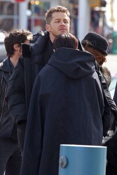 Ginny and Josh being adorable on set