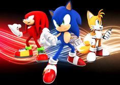 team sonic - sonic, knuckles & tail